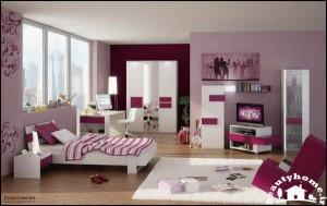 طراحی دکوراسیون اتاق خواب دخترانه شیک