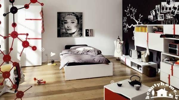 دکوراسیون اتاق خواب دخترانه مدرن و شیک