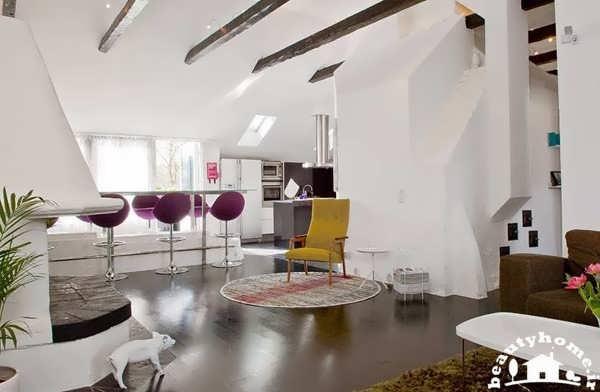 دکوراسیون داخلی منزل شیک با ایده های رنگی