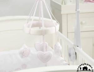 تزئین سیسمونی نوزاد دختر شیک و مدرن