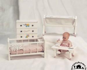سیسمونی نوزاد و سرویس خواب نوزاد صورتی سفید