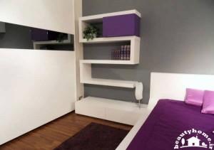 مدل قفسه دیواری جدید و مدرن برای کتاب و لوازم تزئینی