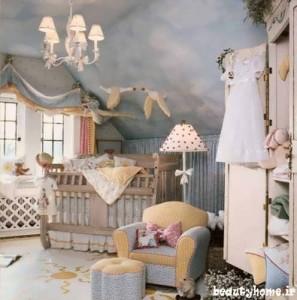 چیدمان اتاق نوزاد مدرن با طراحی شیک