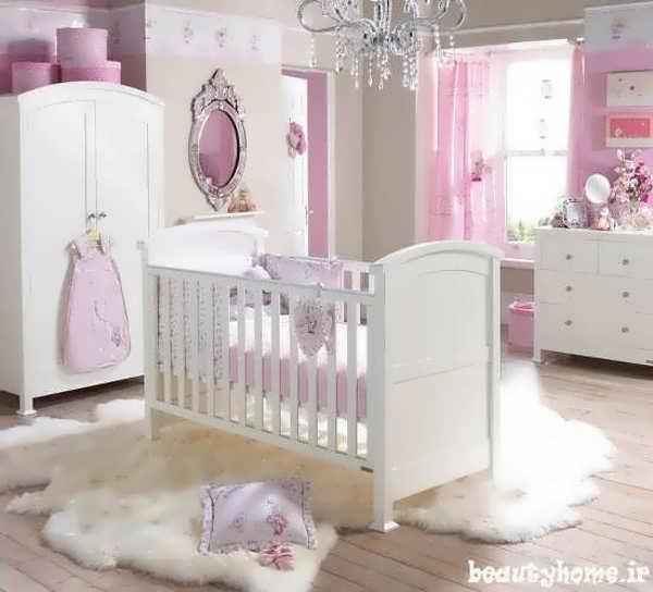 چیدمان اتاق نوزاد شاد با طراحی شیک