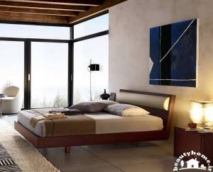 مدل تخت خواب مدرن و چیدمان در اتاق خواب