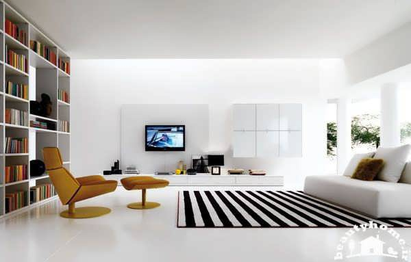 طراحی داخلی پذیرایی مدرن و زیبا
