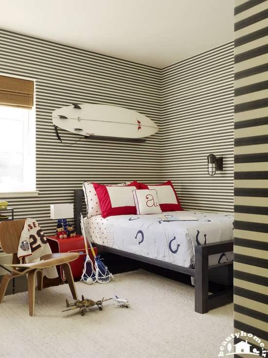 طراحی دکوراسیون اتاق خواب پسرانه شیک و مدرن