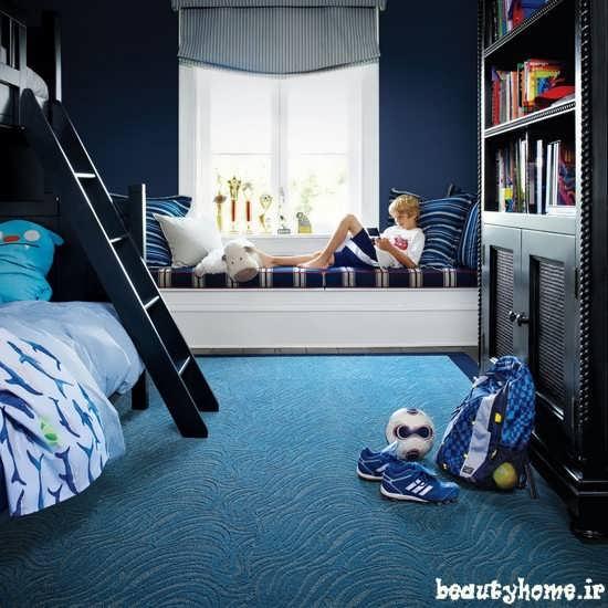 دکوراسیون اتاق خواب کودک و نوجوان پسر با طراحی شیک