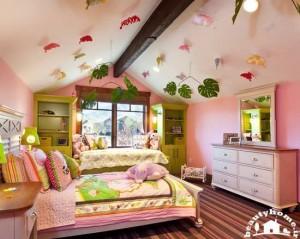 طراحی داخلی اتاق خواب دخترانه