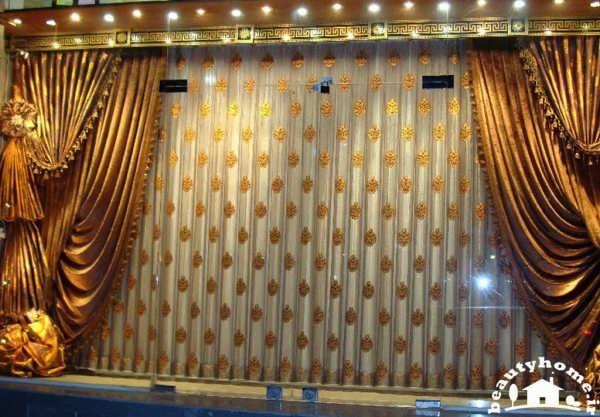 مدل پرده ایرانی مدرن و شیک برای اتاق پذیرایی