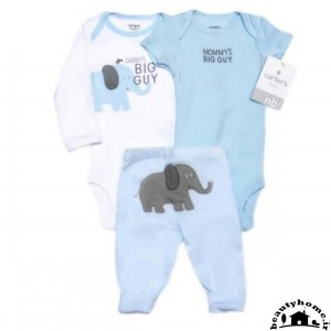 لباس نوزاد برای سیمونی نوزاد پسر آبی و سفید