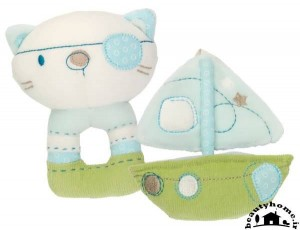 سیسمونی نوزاد پسر با ست آبی و سفید