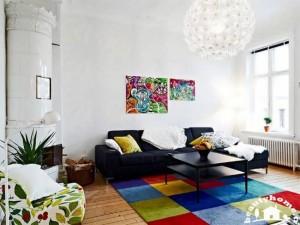 خانه هایی با دکوراسیون رنگی