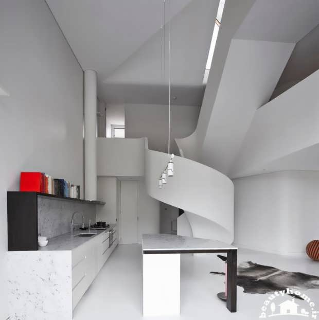 خطوط منحنی در معماری داخلی