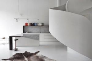 خطوط منحنی در معماری داخلی مدرن