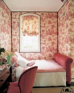 دکوراسیون اتاق خواب کوچک با کاغذ دیواری