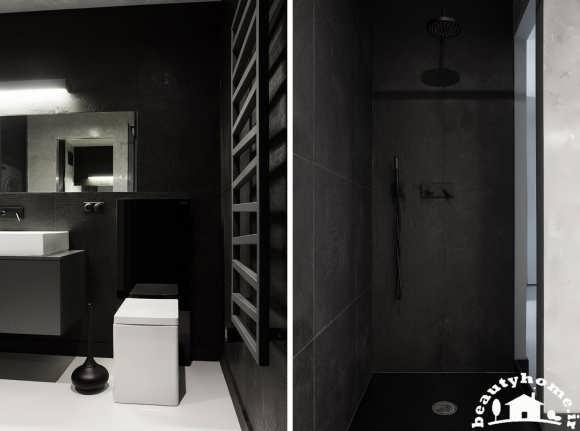 دکوراسیون خانه سیاه سفید