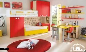 دکوراسیون داخلی اتاق کودک قرمز