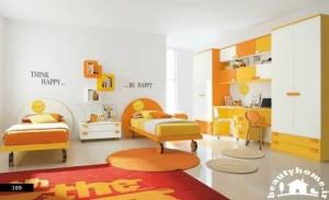 دکوراسیون داخلی اتاق کودک نارنجی