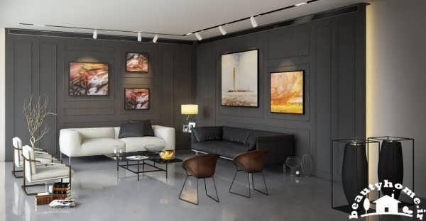 نمای داخلی اتاق پذیرایی