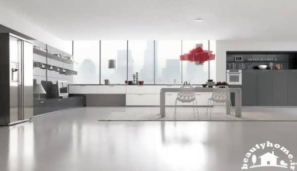 دکوراسیون آشپزخانه خانه های ویلایی