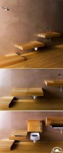 مدل سینک روشویی چوبی