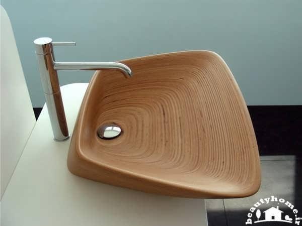 مدل سینک روشویی طرح چوب