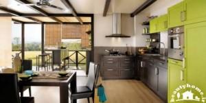 دکوراسیون آشپزخانه سبز رنگ