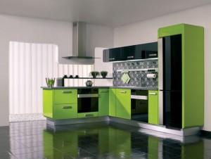 دکوراسیون آشپزخانه سبز