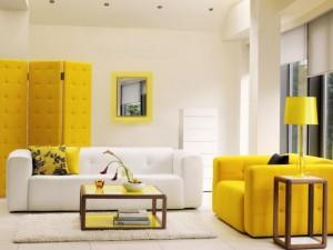 رنگ زرد در درکوراسیون داخلی