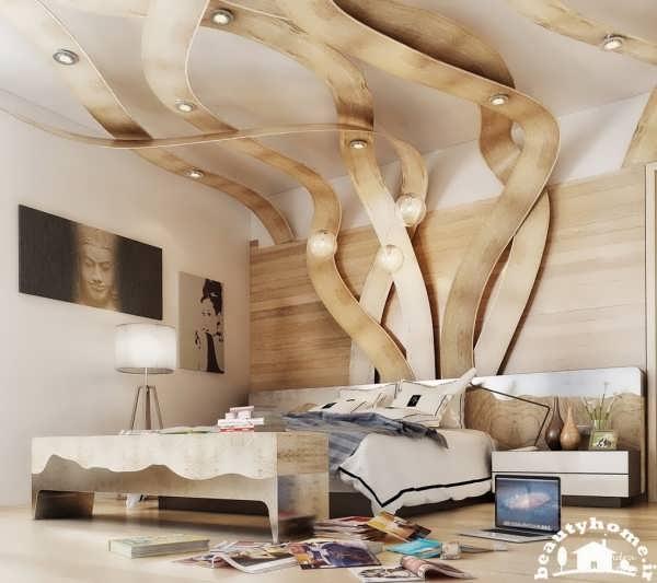 اتاق خواب و نورپردازی زیبا و شیک