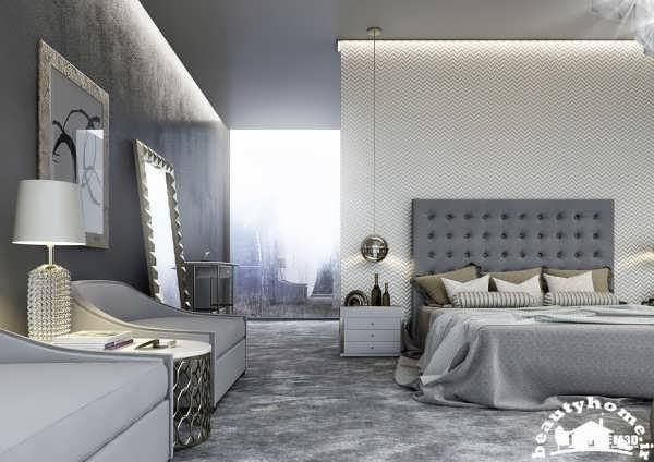 دکوراسیون اتاق خواب 2015 خاکستری