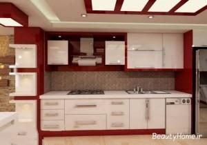 کابینت سفید قرمز