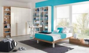 اتاق پسرانه سفید آبی