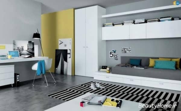 دکوراسیون جدید و مدرن اتاق خواب پسرانه