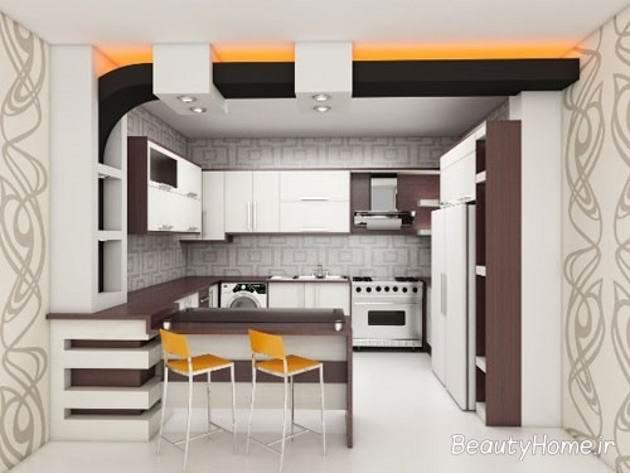 وبلاگ دکوراسیون - عکس های مدل آرک آشپزخانه اپن کناف