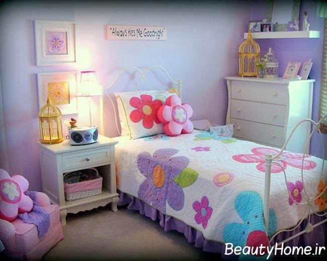 ددکوراسیون اتاق دخترانه بنفش