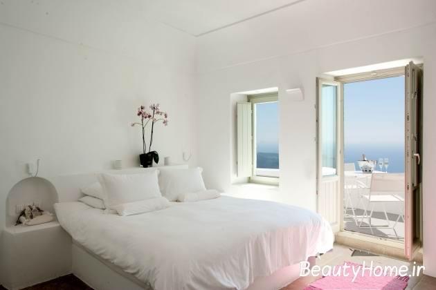 ترکیب سفید صورتی در اتاق خواب