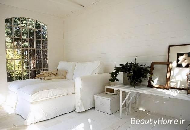اتاق خواب سفید زیبا