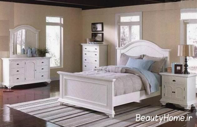 زیباترین اتاق خواب سفید