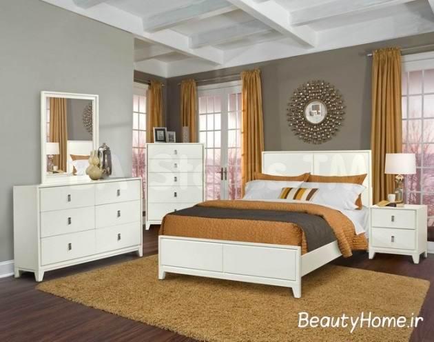 اتاق خواب مدرن سفید