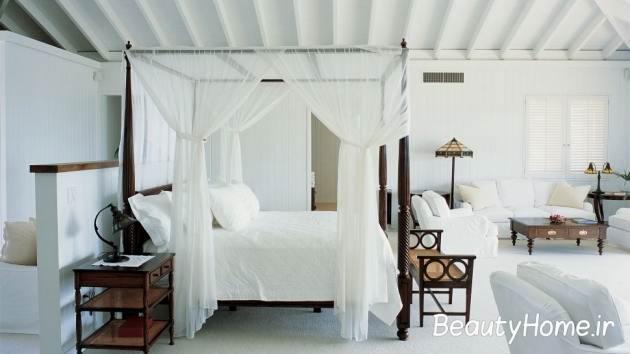 طراحی سفید اتاق خواب