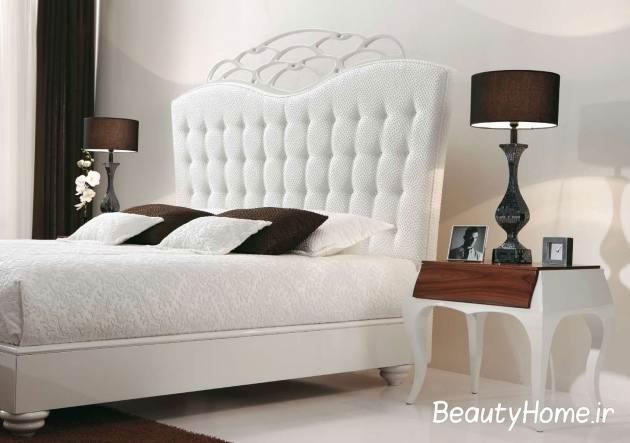 سرویس خواب اتاق خواب سفید