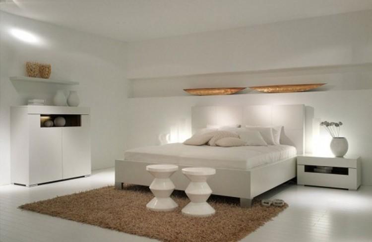 اتاق خواب سفید