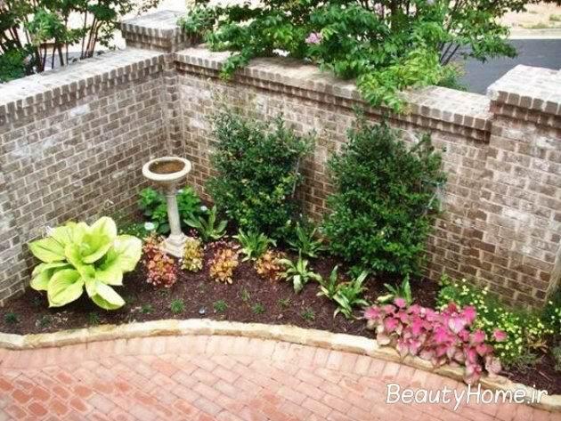 تزیین حیاط با گل های بوته ایی