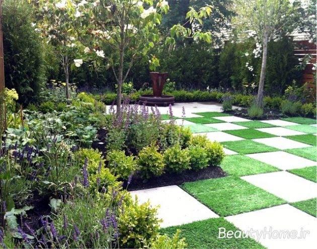 جذاب ترین باغچه حیاط