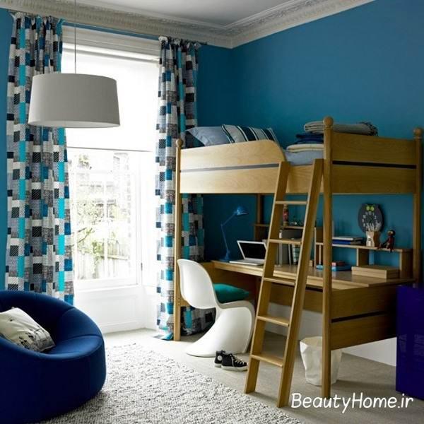 اتاق خواب آبی برای پسران