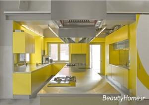دکوراسیون آشپزخانه زرد