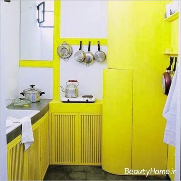 آشپزخانه سفید- لیمویی