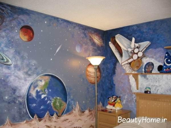 تزیین اتاق خواب کودک با رنگ آبی